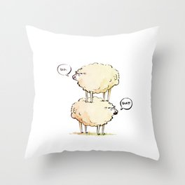 Dolly the Sheep (and Clone) Throw Pillow