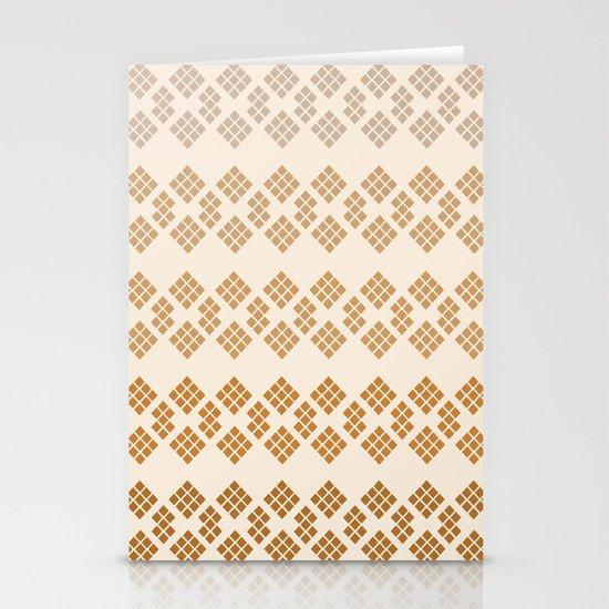 Gold Diamonds Stationery Cards