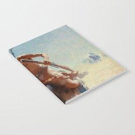 """William Leigh Western Art """"Indian Rider"""" Notebook"""