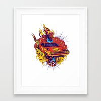 muscle Framed Art Prints featuring Muscle by Tshirt-Factory