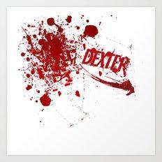 Dexter blood spatter Art Print