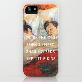 Sharing Beds iPhone Case