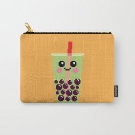 Happy Pixel Bubble Tea Carry-All Pouch