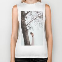 alone Biker Tanks featuring Alone by Jovana Rikalo