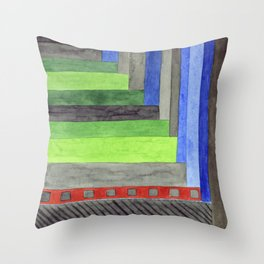 The Red Threshold  Throw Pillow