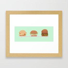 Burger Babies! Framed Art Print