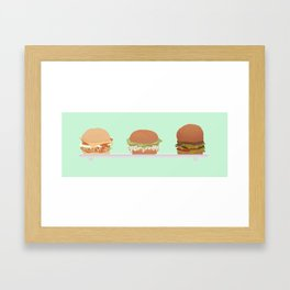 Burger Babies! Framed Art Print