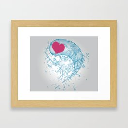 Love Your Water Framed Art Print