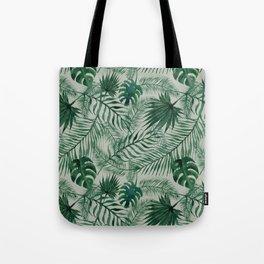 Jungle Leaves pattern Tote Bag