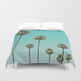 palm trees. las palmeras Duvet Cover