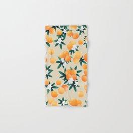 Orange Twist Flower Vibes #9 #tropical #fruit #decor #art #society6 Hand & Bath Towel