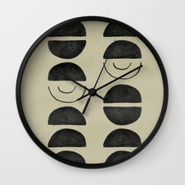 Abstract one color olive minimal Wall Clock