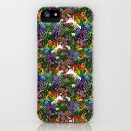 Unicorn in a Rainbow Garden iPhone Case