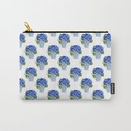 Hydrangea Chinoiserie Jenna Carry-All Pouch