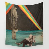 lynch Wall Tapestries featuring Please do not wake him. by Dan Howard