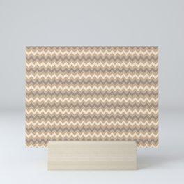 Ligonier Tan SW 7717, Slate Violet Gray SW9155, and Creamy Off White SW7012 Chevron Horizontal Lines Mini Art Print