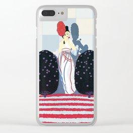 """Art Deco Illustration """"Lafayette"""" by Erté Clear iPhone Case"""