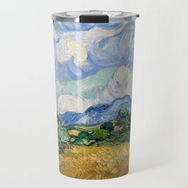 Wheat Field with Cypresses by Vincent van Gogh Travel Mug