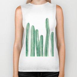 Cactus Painting Design - Cacti Design - Tall Cactus Design Biker Tank