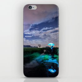 Man Under Umbrella iPhone Skin
