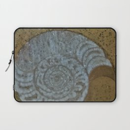 Ammonite in fossilized river bed Laptop Sleeve