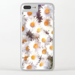Spring Daisy Wildflower Watercolor Clear iPhone Case