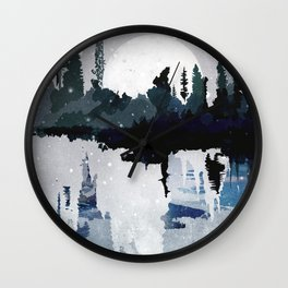 the art of silence II Wall Clock