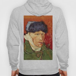Vincent van Gogh Self-portrait with Bandaged Ear and Pipe Hoody
