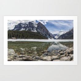 Lake Louise, Mid May, Mid Day Art Print