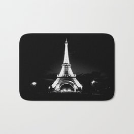 Paris Black & White Bath Mat