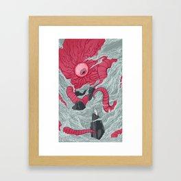 Crawling Eyes Framed Art Print