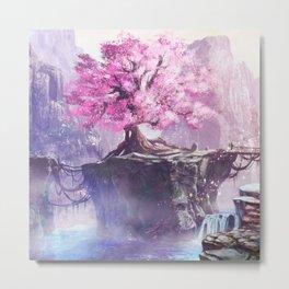 Japan Sakura Beautiful Metal Print