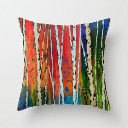 Birch Tree Stitch Throw Pillow