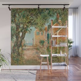 Classical Masterpiece 'Provincetown, Cape Cod' by Frederick Childe Hassam Wall Mural