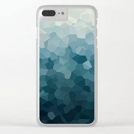 Ice Blue Mountains Moon Love Clear iPhone Case