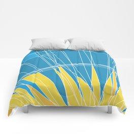 Abstract pattern, digital sunrise illustration Comforters