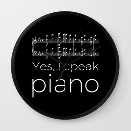 Yes, I speak piano Wall Clock