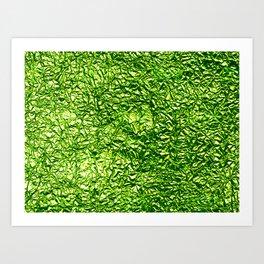Deep green crease Art Print