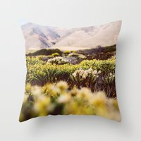 big sur Throw Pillows featuring Big Sur by Shannon Lepere