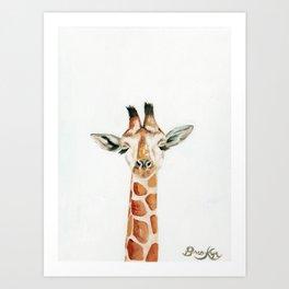 What Does the Giraffe Dream? Art Print