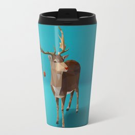Low Poly Reindeer Travel Mug