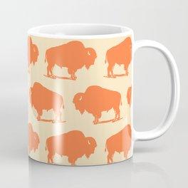 Buffalo Bison Pattern Orange and Yellow Coffee Mug