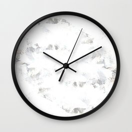 marble like abstract painting Wall Clock