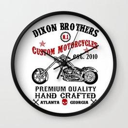 D Brothers Custom Motorcycles v2 Wall Clock