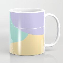 Modern minimal abstract geometric ice cream colors Coffee Mug