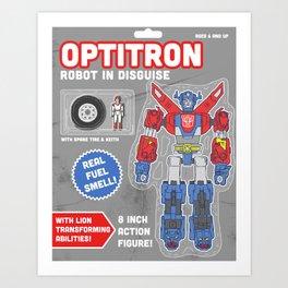 Optitron: Robot in Disguise Art Print