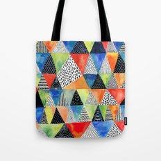Doodled Geometry Tote Bag