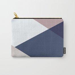 Geometrics - blush indigo rose gold Carry-All Pouch