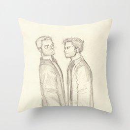 Dean & Cas Throw Pillow