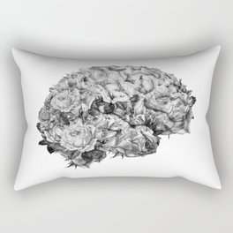 flower brain black and white Rectangular Pillow